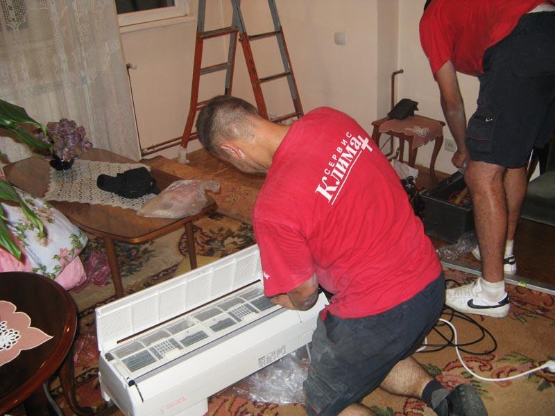 Kucna klimatizacija - unutrasnja jedinica - montaza na Banjici 04